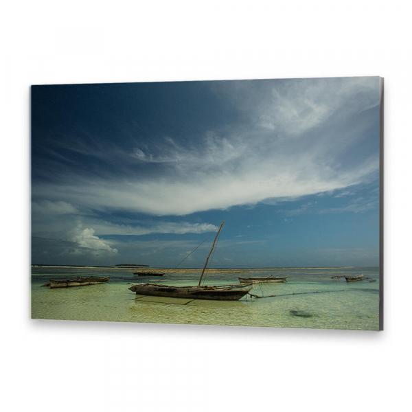 Tablou simplu - Barca de la malul mării 0
