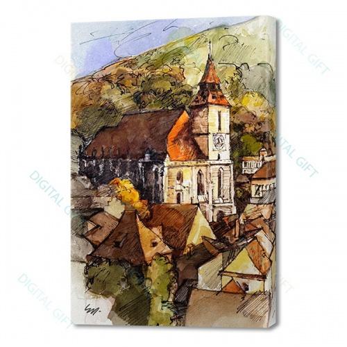 Tablou simplu - Biserica Neagră, Brașov 0