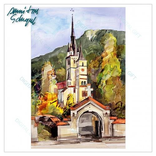 Tablou simplu pe canvas - Biserica Sf. Nicolae, Brasov [1]