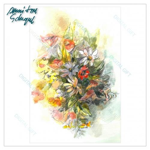 Tablou simplu - Buchet cu flori de câmp 2