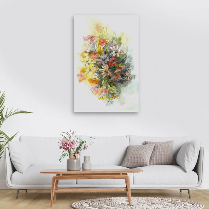 Tablou simplu - Buchet cu flori de câmp 1
