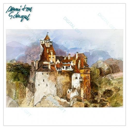 Tablou simplu - Castelul Bran 01 [1]