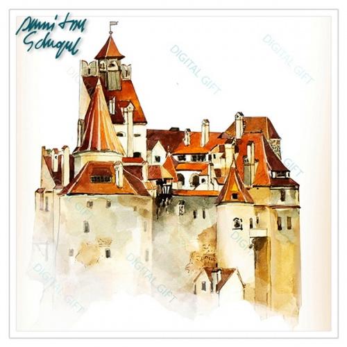 Tablou simplu - Castelul Bran 02 [1]