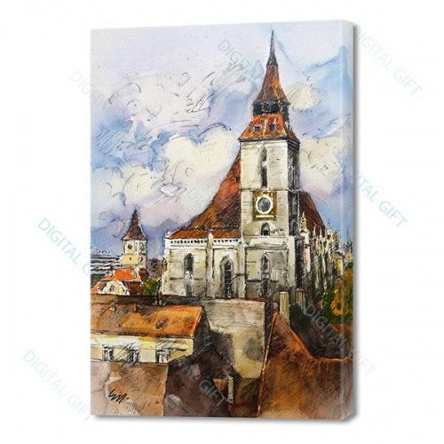 Tablou simplu - Ceasul Bisericii Negre, Brașov 0