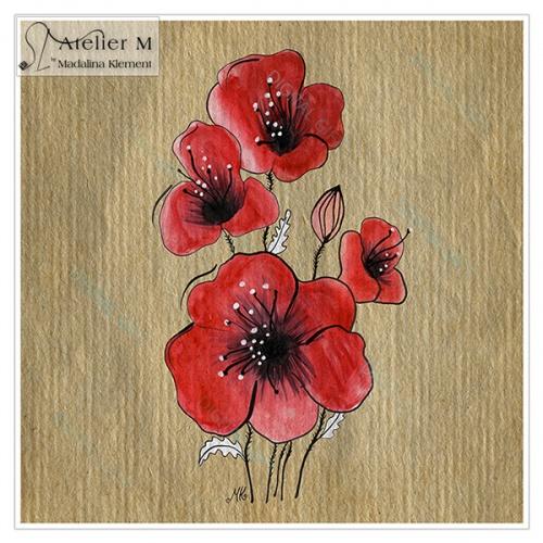 Tablou simplu - Flori de mac 02 [1]