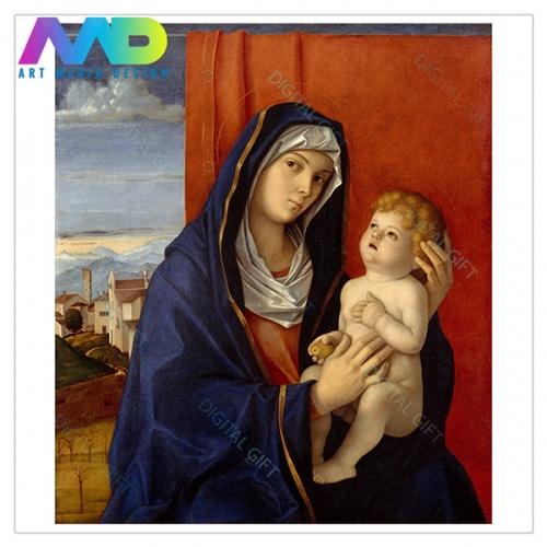 Tablou simplu - Giovanni Bellini - Madonna și pruncul 1