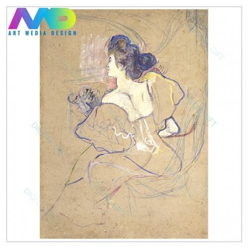 Tablou simplu - Henri de Toulouse-Lautrec - Madame Thadée Natanson at the Theater 1