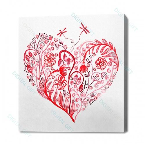 Tablou simplu - Inima înflorind [0]