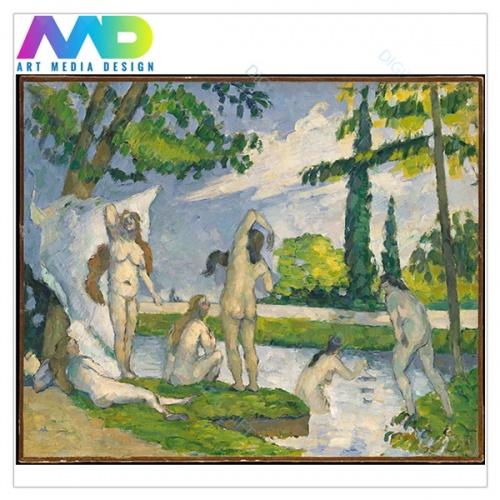 Tablou simplu - Paul Cézanne - La scăldat - copie 1