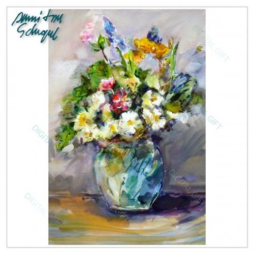 Tablou simplu - Vază cu flori 1
