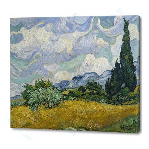 Tablou simplu - Vincent van Gogh - Câmp de grâu cu chiparoși [0]