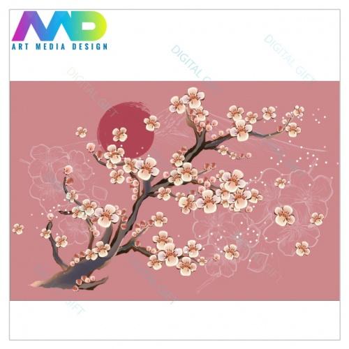 Tapet - Flori de cireș 1