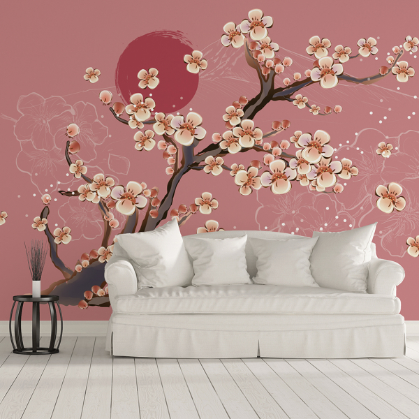 Tapet - Flori de cireș 0
