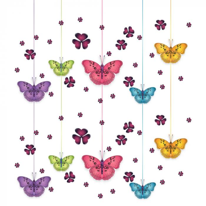 Tapet - Fluturi și flori [1]