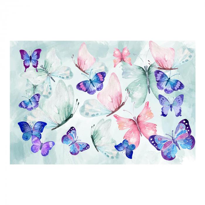 Tapet - Fluturi, pictură abstractă [1]