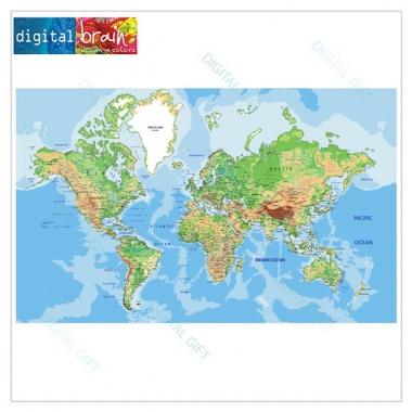 Tapet - Harta lumii 1