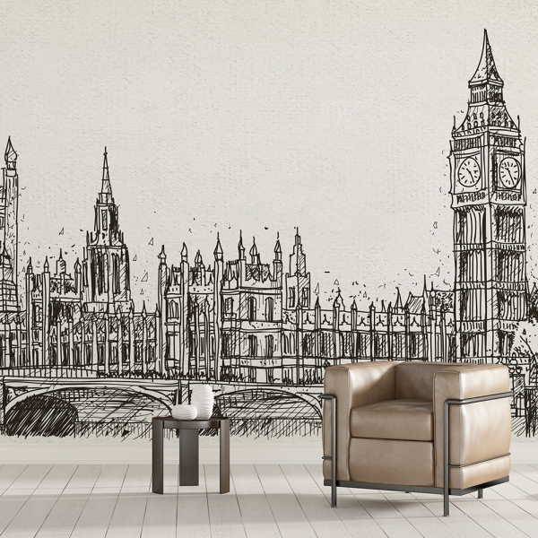Tapet - Londra în creion 0