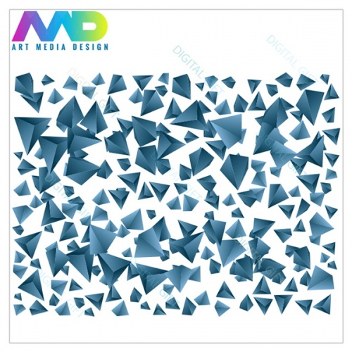 Tapet - Piramide albastre 1