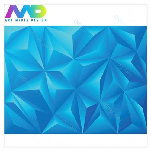 Tapet - Piramide albastru 3D 1