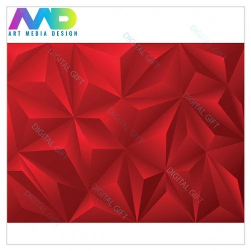 Tapet - Piramide roșu 3D 1