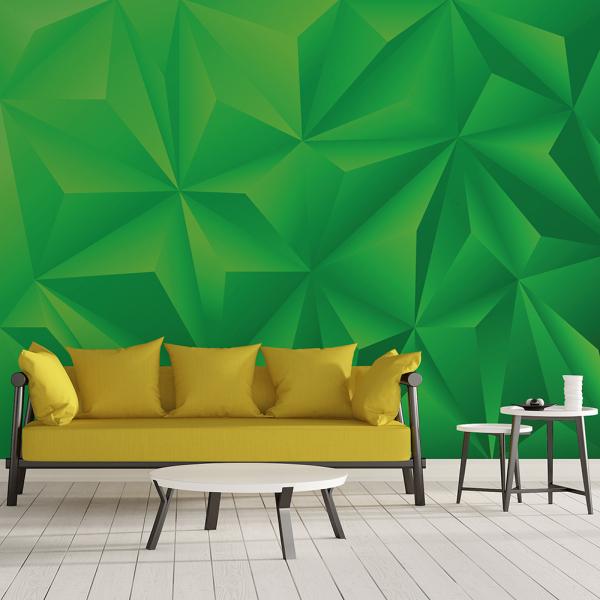 Tapet - Piramide verde 3D 0
