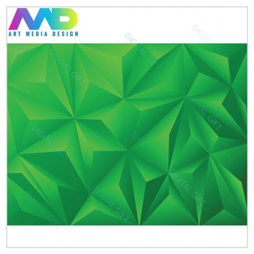 Tapet - Piramide verde 3D 1