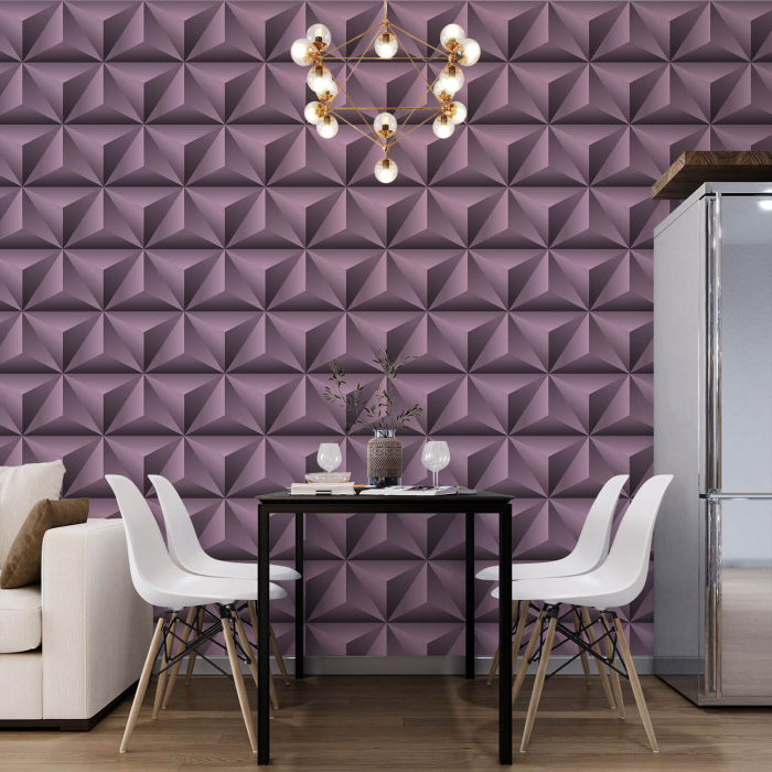 Fototapet - Piramide violet 3D [0]