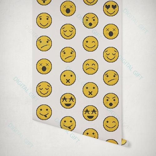 Tapet tip pattern - Emoji 1
