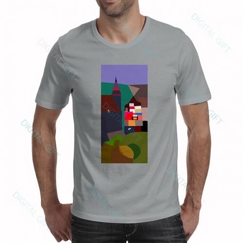 Tricou bărbați - Biserica Neagră, pictură abstractă 0