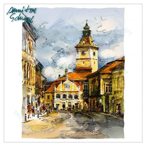 Tricou bărbați - Casa Sfatului, Brașov 1