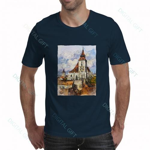 Tricou bărbați - Ceasul Bisericii Negre, Brașov 0