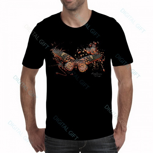 Tricou bărbați - Fluture abstract - față 0