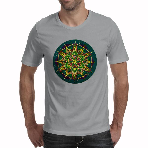 "Tricou bărbați - Mandala ""Inimă sacră"" 0"