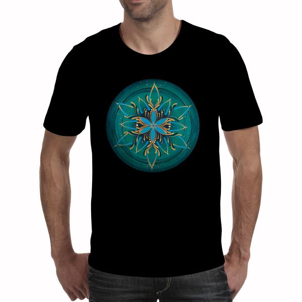 """Tricou bărbați - Mandala """"Vishuddha"""" 0"""