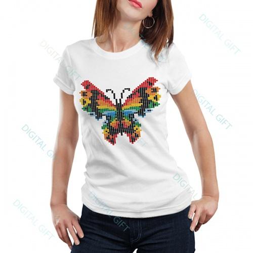 Tricou dame - Fluture stilizat 0