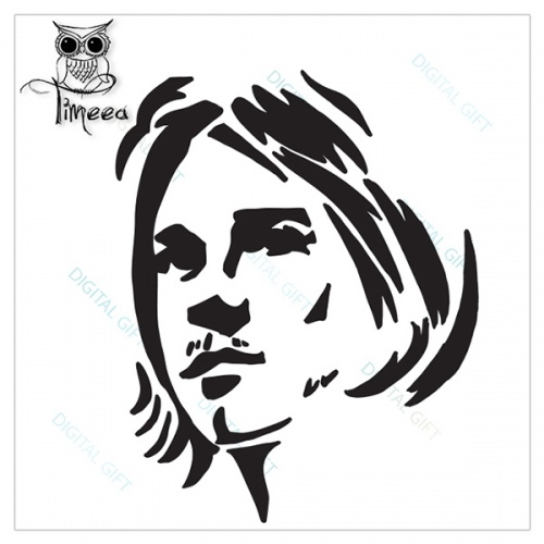 Tricou dame - Kurt Cobain 1