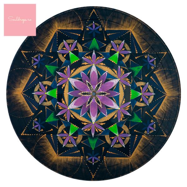 """Tricou dame - Mandala """"Conștiința extinsă"""" 1"""