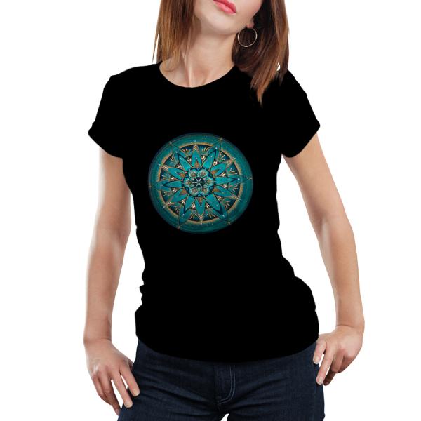 "Tricou dame - Mandala ""Despre adevăr"" 0"
