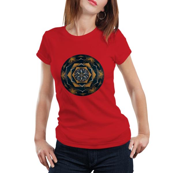 """Tricou dame - Mandala """"Despre lumină"""" 0"""