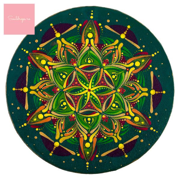 "Tricou dame - Mandala ""Inimă sacră"" 1"