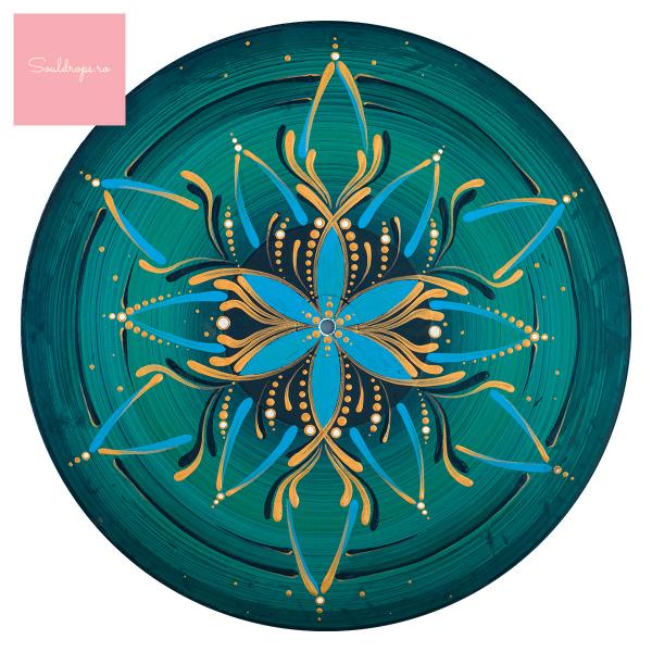 """Tricou dame - Mandala """"Vishuddha"""" 1"""