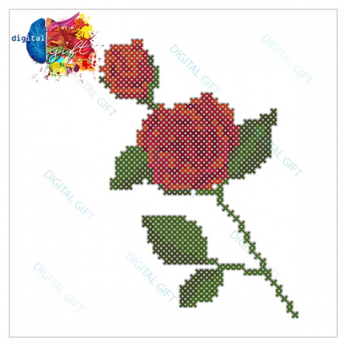 Tricou dame - Trandafir cusut 1