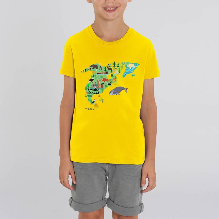 Tricou unisex pentru copii - America de Nord [0]
