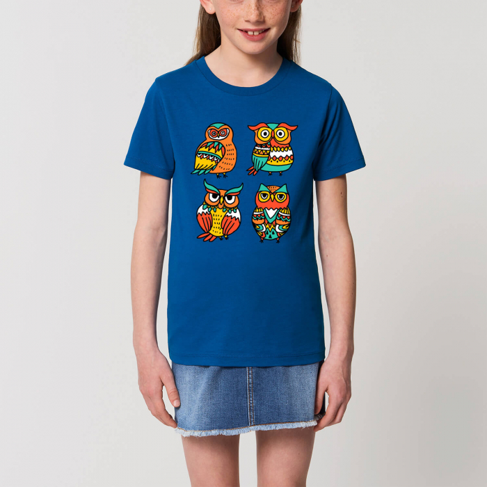 Tricou unisex copii - Bufnițe în stil tribal [0]