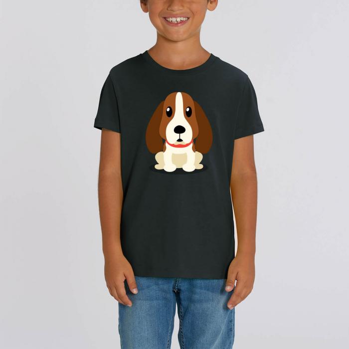 Tricou unisex copii - Cățelușul meu, Basset [0]