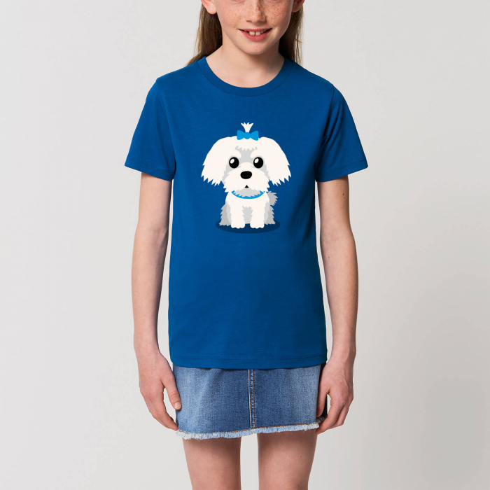 Tricou unisex copii - Cățelușul meu, Maltese [0]