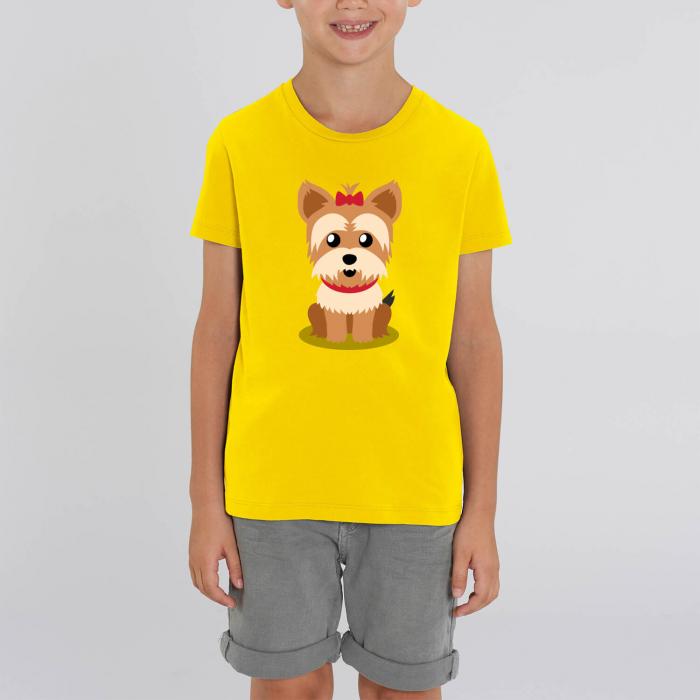 Tricou unisex copii - Cățelușul meu, Yorkshire [0]