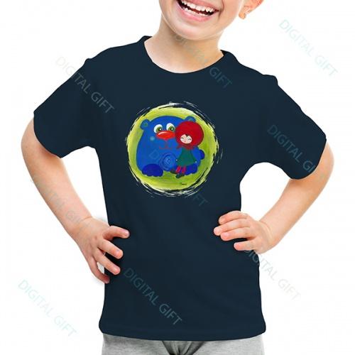 Tricou unisex copii - Fetița cu ursul 0