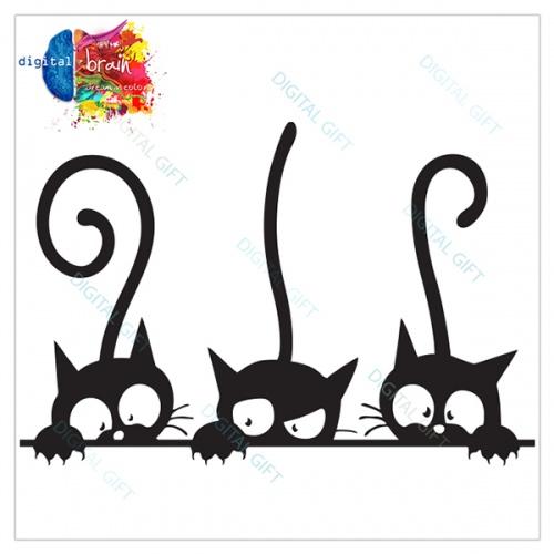 Tricou unisex copii - Trei pisici 1