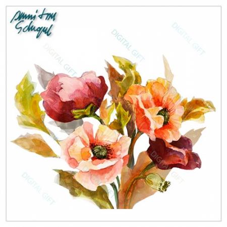Cană ceramică - Flori pictate 01 [1]